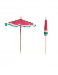 Cocktail-Schirme Melone Partyzubehör 12 Stück bunt 10cm
