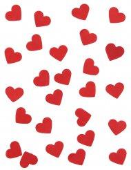 Papier-Konfetti Herzen rot Partyzubehör 20g