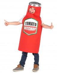 Witziges Ketchup-Kinderkostüm Karneval rot