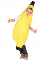 Lustiges Bananen-Kostüm für Kinder Früchte gelb