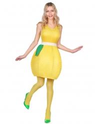 Erfrischendes Zitronen-Kostüm für Damen gelb-grün