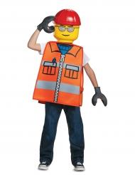 Lego™-Bauarbeiter Karnevals-Lizenzkostüm für Kinder orange-bunt