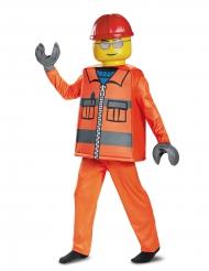 Lego™-Bauarbeiter-Kinderkostüm Lizenz-Verkleidung orange-gelb