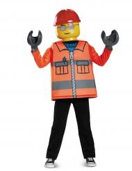 Lego™-Bauarbeiter Lizenz-Kinderkostüm für Karneval orange-gelb