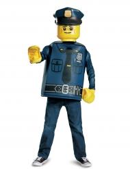 Lego™-Polizist Kinderkostüm für Karneval Lizenz blau-gelb