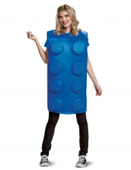 Lego™-Baustein-Kostüm Unisex Lizenz-Verkleidung blau