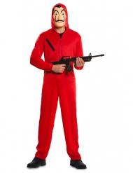 Haus des Geldes™-Bankräuber-Kostüm La Casa de papel rot
