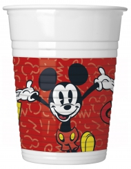 8 Mickey Plastikbecher retro 200 ml