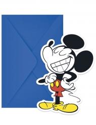 6 Einladungskarten mit Mickey