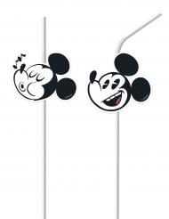 6 Mickey Retro Strohhalme