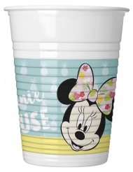 8 Tropische Minnie ™ Plastikbecher 200 ml