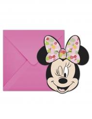 Minnie Maus™-Einladungskarten Kindergeburtstag 12-teilig rosa