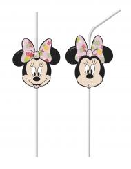 Minnie Maus™-Strohhalme für Kinder Tischzubehör 6 Stück bunt
