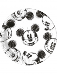 8 Teller mit Mickey Mouse