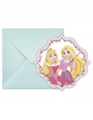 6 Einladungskarten Disney Princesses