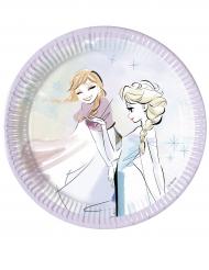 Disney™-Frozen Pappteller Kindergeburtstag 8 Stück bunt 20cm