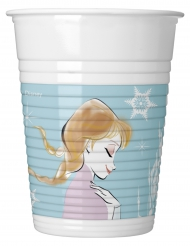 8 Elsa Frozen™ Plastikbecher 200 ml