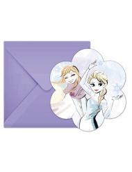 6 Die Eiskönigin Einladungskarten und Umschläge