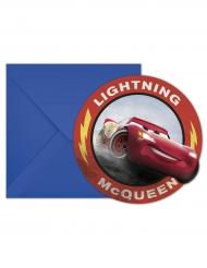 Cars3™-Disney Einladungskarten & Umschläge 12-teilig bunt