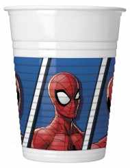 8 Plastikbecher Spiderman 200 ml