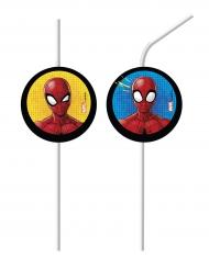 Satz von 6 Spiderman-Strohhalmen