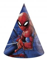 Spiderman™-Partyhüte Lizenzprodukt 6 Stück bunt