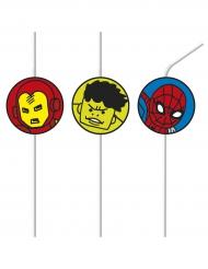 6 Avengers Medaillon Strohhalme