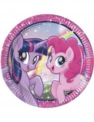 8 Pappteller 23cm Pony & Freunde