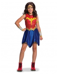 Wonder Woman™-Lizenzkostüm für Kinder Justice League blau-rot-gold