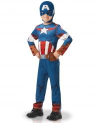 Captain America™-Kinderkostüm Lizenz für Jungen blau-rot-weiss