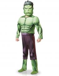 Hulk™-Lizenzkostüm Verkleidung für Kinder Deluxe grün-lila