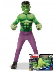 Hulk™-Kinderkostüm in Geschenkbox Marvel™-Lizenz grün