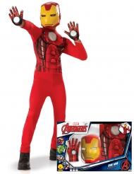 Iron Man™-Kinderkostüm Marvel™-Lizenz-Verkleidung rot-gelb
