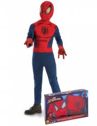 Spider Man™-Kinderkostüm klassisch Lizenz blau-rot