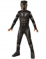 Black Panther™-Kinderkostüm Lizenz schwarz