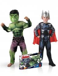 Marvel™-Kinder-Paarkostüm Thor™ und Hulk™ bunt
