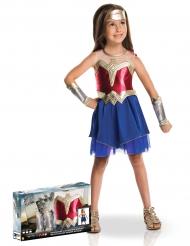 Wonder Woman™-Kostüm für Mädchen Lizenzartikel rot-blau-gold