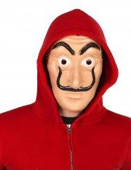 Bankräuber-Maske für Erwachsene hautfarben-schwarz