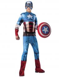 Captain America™-Kostüm für Kinder Lizenzartikel blau-rot-weiss