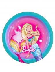 8 Pappteller Barbie Dreamtopia