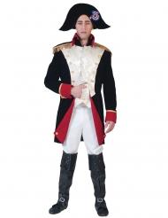 Napoleon-Verkleidung für Herren Deluxe schwarz-weiss-rot