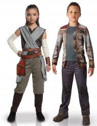 Star Wars™-Paarkostüme für Kinder Rey und Finn Lizenzartikel