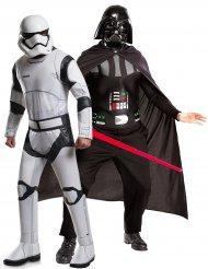 Star Wars™-Paarkostüm für Männer Stormtrooper und Darth Vader™