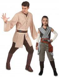 Star Wars™-Paarkostüm Vater und Tochter Rey und Jedi™ bunt