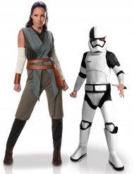 Star Wars™-Paarkostüm Mutter und Kind Lizenzartikel Rey und Stormtrooper