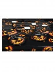 Tischdekoration Kürbis Halloween 4-teilig schwarz-orange