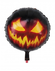 Aluminium-Ballon Kürbis Halloween-Dekoration schwarz-orange 45cm