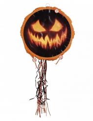 Kürbis-Pinata Halloween-Partyzubehör schwarz-orange 40cm