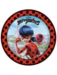 Ladybug™-Pappteller Zubehör Kindergeburtstag 8 Stück mit Motiv bunt 23cm