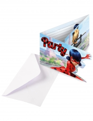 6 Ladybug™ Einladungskarten mit Umschlägen